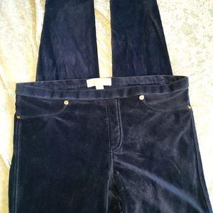 Michael Kors navy corduroy leggings